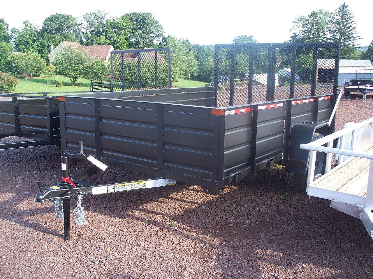 "U6x12ESS - 6'4"" x 12' Commercial Utility Trailer 2,990 GVW with Solid Steel Sides"