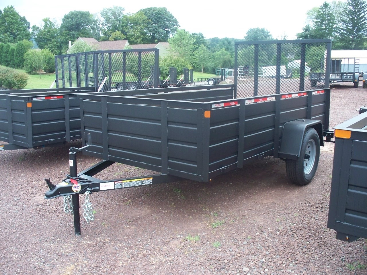 RTA510-3SSS 5' x 10' Commercial Utility Ringo Trailer 2,990 GVW with Solid Steel Sides