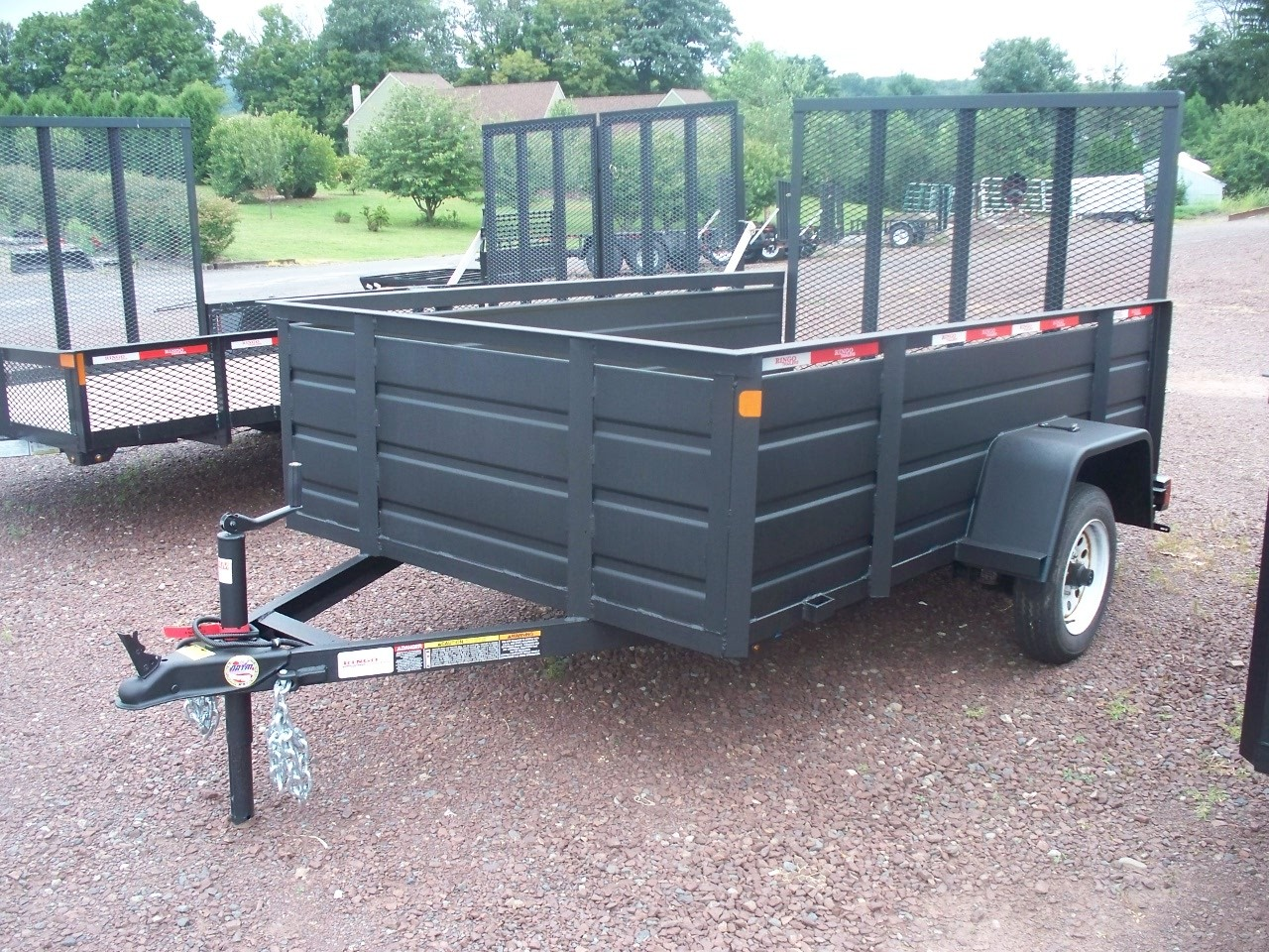 5 X 8 Utility Trailer With Solid Steel Sides