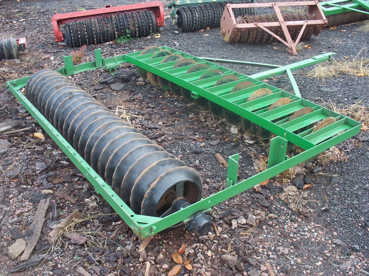 Used 7' Green Cultipacker / Disk Combo