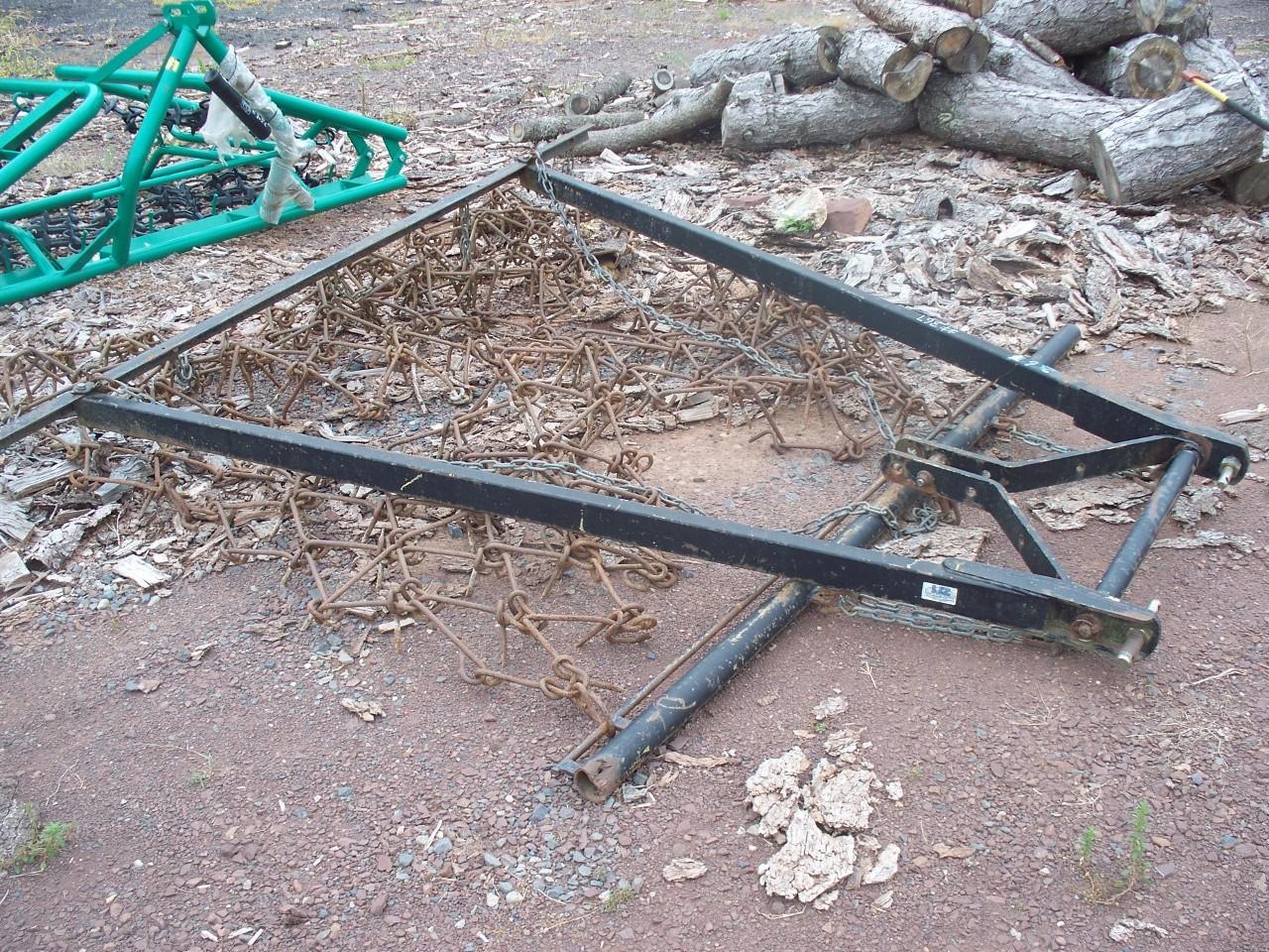 Used 8' Chain Harrow w/ 3 Point Tool Bar Carrier