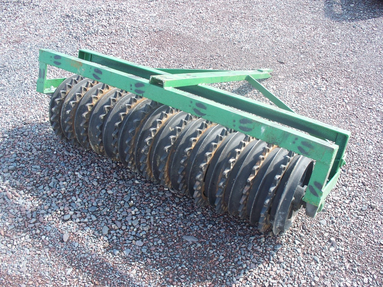Used Rebuilt 5' Coultepacker with smooth and star pulverizer wheels