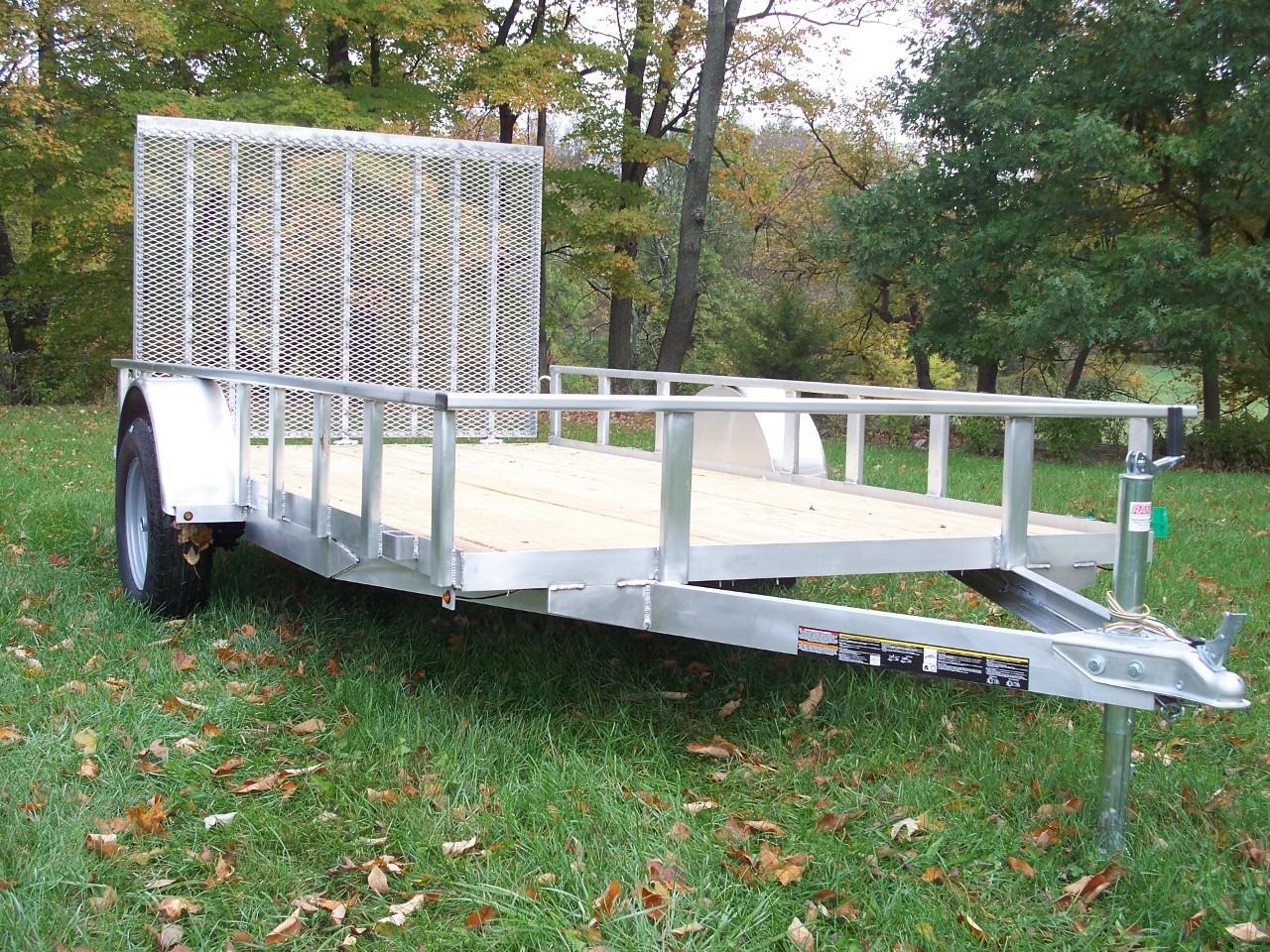 6' x 12' Aluminum Trailer 2990 GVW