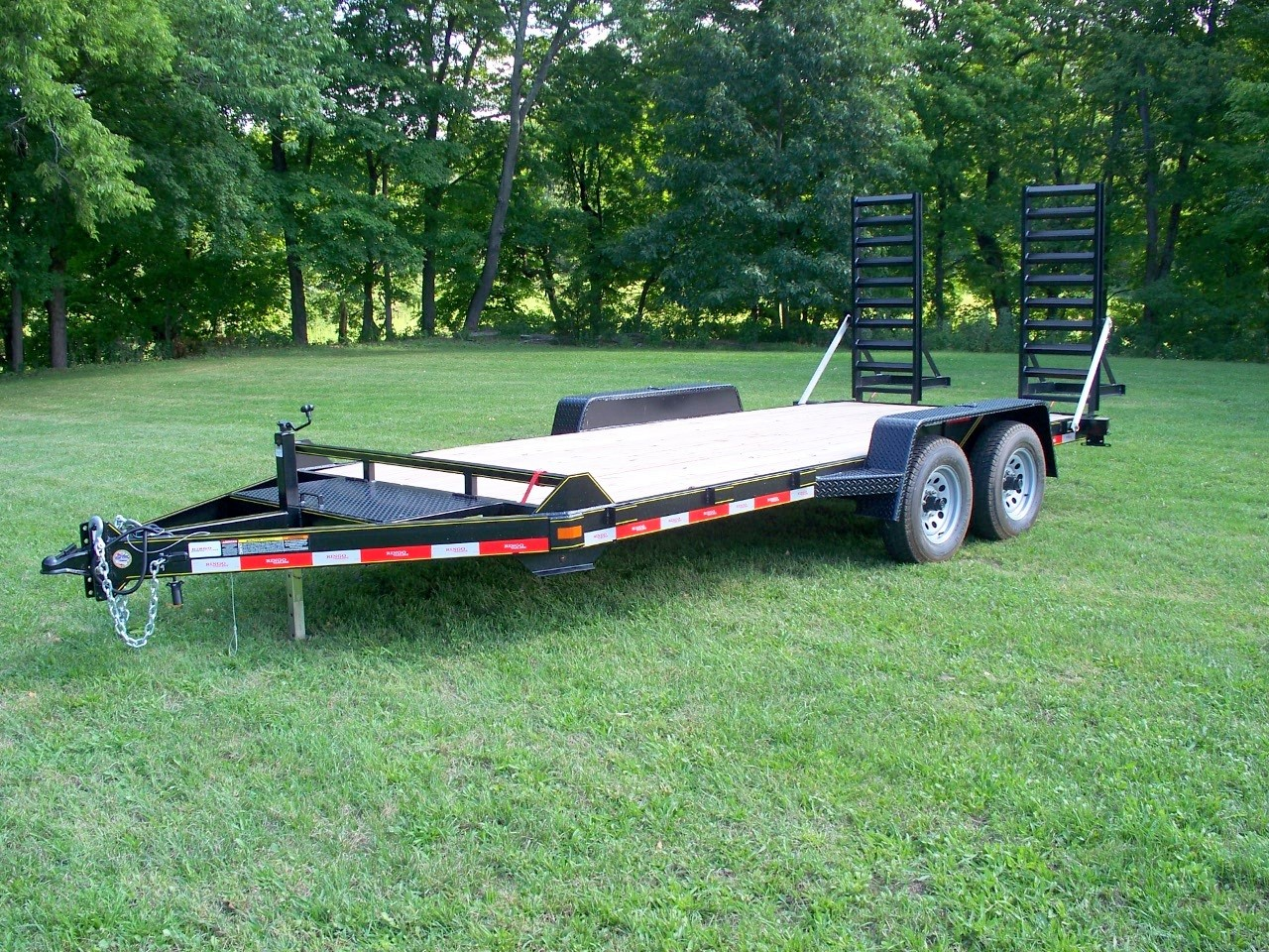 "C20-10 - Ringo 6'9"" x 20' Construction Trailer 9,990 GVW with wood floor"