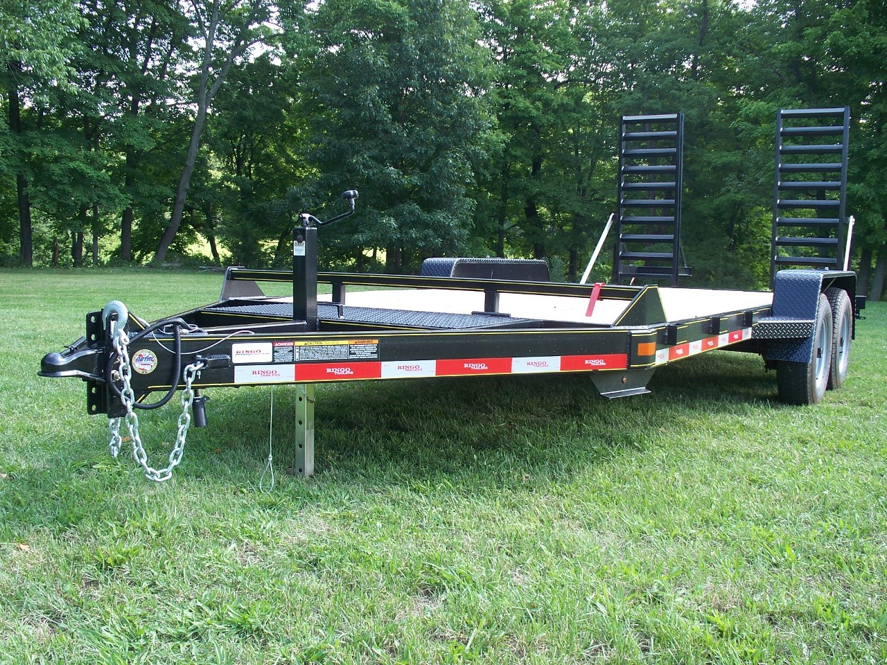 "C18-10 - Ringo 6'9"" x 18' Construction Trailer 9,990 GVW with wood floor"