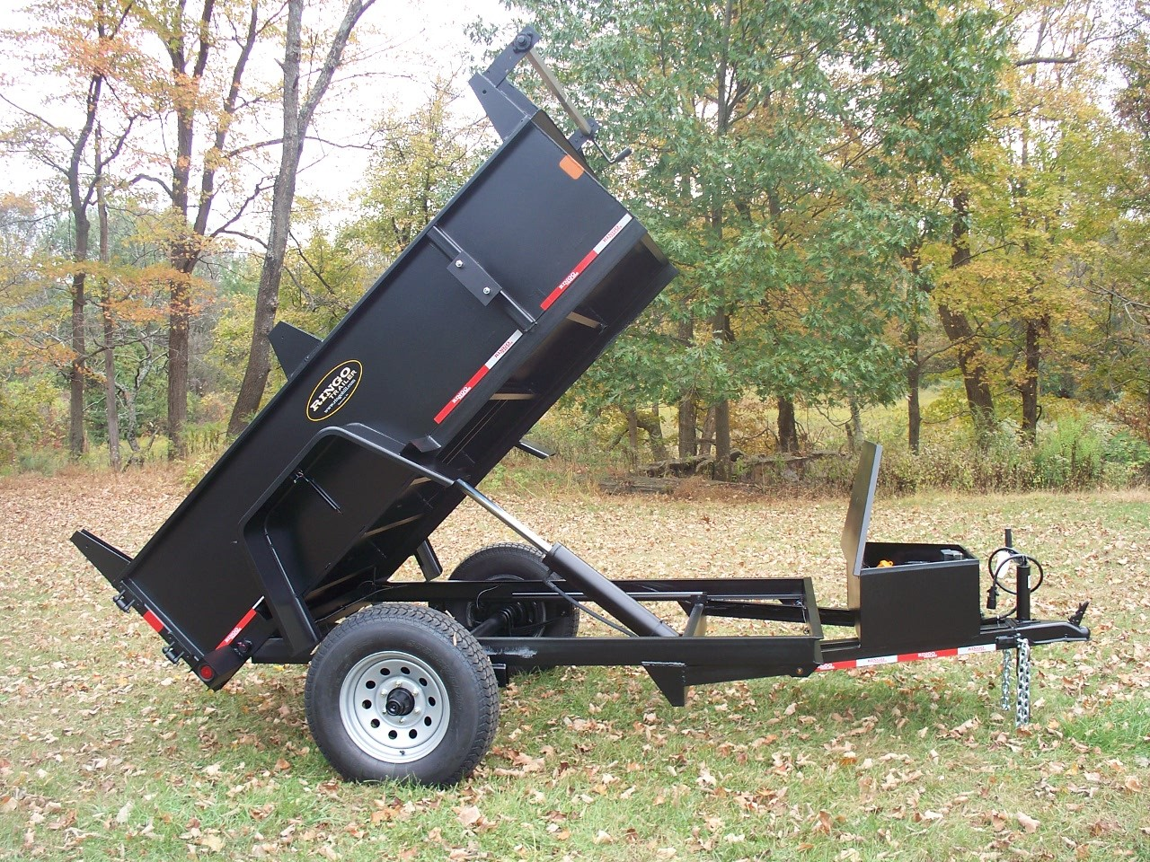 D508HDE - 5' x 8' Ringo Dump Trailer 5,000 GVW with 2.2 cubic yard capacity