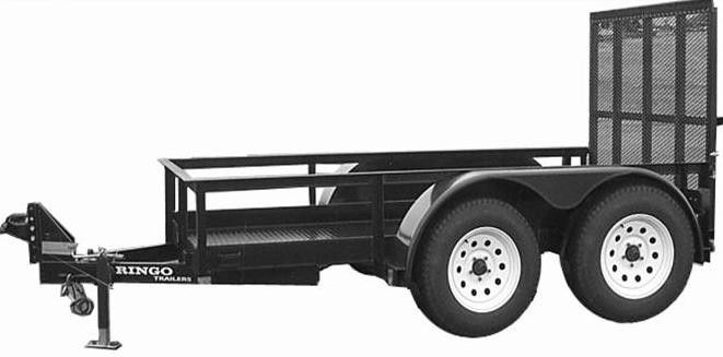 4' x 10' Commercial Utility Trailer 7,000 GVW with Low Profile Sizzor Lift