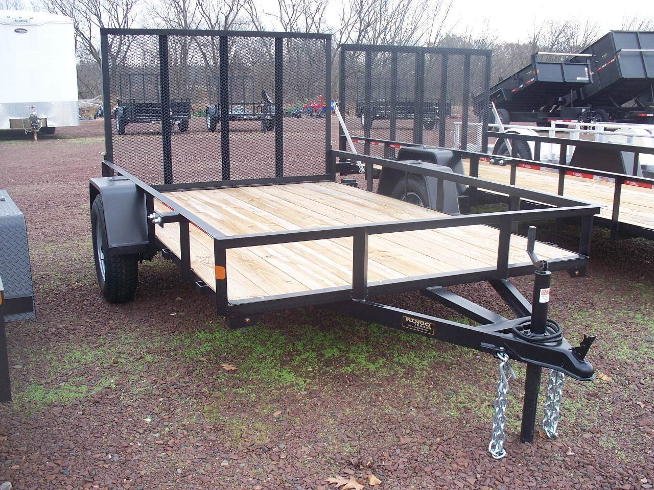 "RTA5.510-3 - 5'6"" x 10' Commercial Utility A Frame Ringo Trailer with 2,990 GVW & Wood Floor"