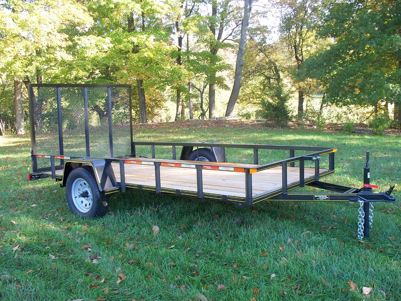 "RTA610-3 - 6'4"" x 10' Commercial Utility A Frame Ringo Trailer with 2,990 GVW & Wood Floor"