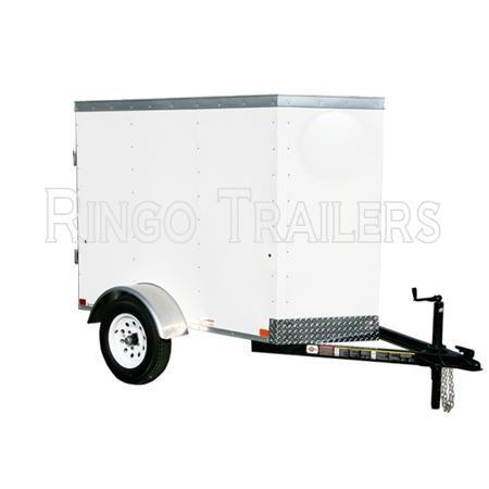 RTE4X6VB 4' x 6' Enclosed Cargo Trailer V-Nose