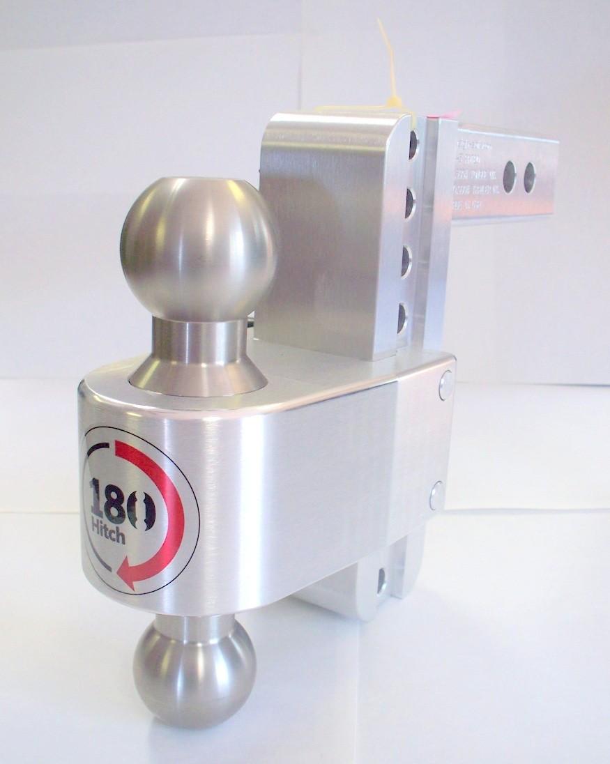"""10"""" Drop Weigh Safe Aluminum 180 Ball Mount -2.5"""" Shaft"""