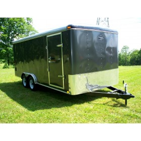 RTE8x16R-10 - 8.5' x 16' Enclosed Cargo Trailer with Rear Ramp Door 10,000 GVW