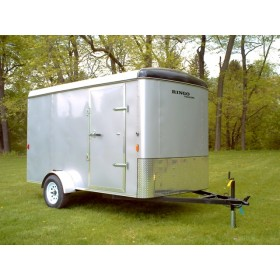RTE6X12R - 6' x 12' Enclosed Cargo Trailer with Rear Ramp Door 2,990 GVW *Temporarily Unavailable*