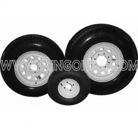 "ST205-75D-15LRC-TW-5L-C 15"" Tire with Chrome 5 on 4.5 Lug Wheel"