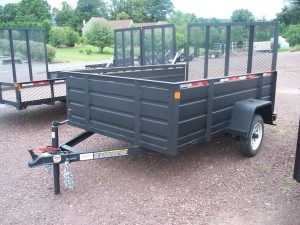 RTA508-3SSS - 5' x 8' Commercial Utility Trailer 2,990 GVW with Solid Steel Sides