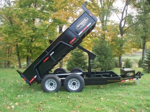 "DT612-LPHD-102 - 6' 7"" x 12' Low Profile Equipment Hauler Dump Trailer - 14,000 GVW"