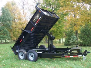 "DT614-LPHD-102 - 6' 7"" x 14' Low Profile Equipment Hauler Dump Trailer - 14,000 GVW"