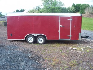 RTE8x20R-10 - 8.5' x 20' Enclosed Cargo Trailer with Ramp Door 10,000 GVW
