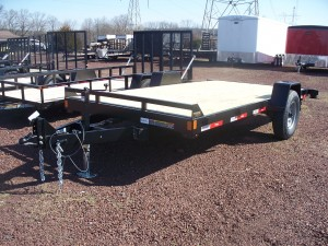"NEW Ringo 6'9"" x 14' Flat Deck Trailer w/ Slide in Ramps"