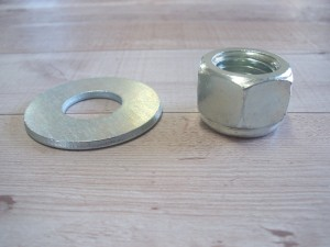 Rock Rakes Parts - Center Mounting Bolt, Washer, & Nut
