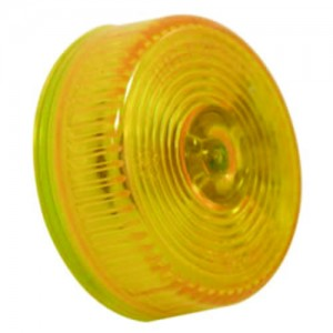 Amber Round Sealed Clearance Marker Light