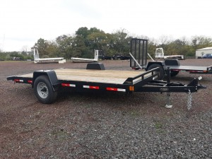 C14HD - 6'9' x 14' Ringo Flat Bed Trailer