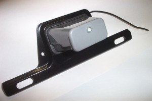 License Plate Bracket with Light