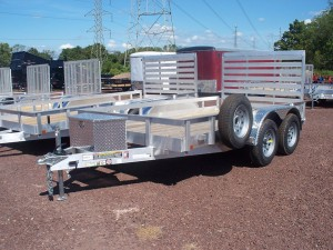 NEW!! 6' x 12' Aluminum Utility Double Axle Trailer w/ Tool box and spare tire!