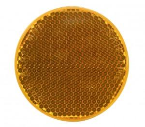 Amber Round Quick Mount Reflector