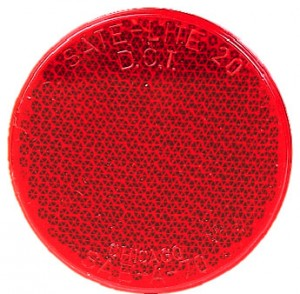 Red Round Quick Mount Reflector