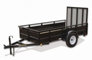 5' x 10' Economy Utility Trailer 2,990 GVW with solid steel sides