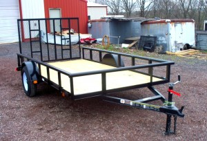 "6'4"" x 12' Economy Utility Trailer 2,990 GVW with Pipe Top"
