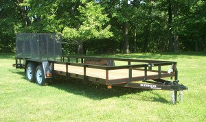 7 x 20 commercial landscape trailer