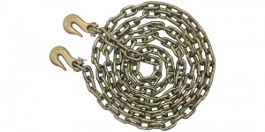 "3/8"" x 20' Proof Coil Chain w/ Hooks."