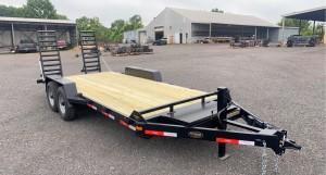"""C20-14 - 6'9"""" x 20' Ringo Construction Trailer 14,000 GVW with wood floor"""