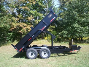 "LP82x12RDX - 6'10"" x 12' Low Profile Dump Trailer 14,000 GVW with 5.06 cubic yard capacity"