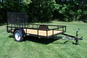 6' x 10' Economy Utility Trailer 2,990 GVW with wood floor