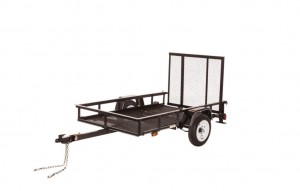 MV508WMF - 5' x 8' Economy Utility Trailer 2,000 GVW with wire mesh floor