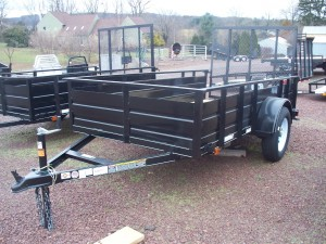MV510SSS - 5' x 10' Economy Utility Trailer 2,990 GVW with solid steel sides *Temporarily Unavailable!*
