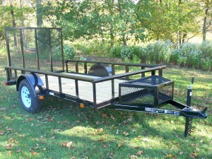 MV5.510E-PT - 5.5' x 10' Economy Utility Trailer 2,990 GVW with Pipe Top *Temporarily Unavailable!*