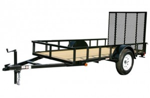 6' x 12' Economy Utility Trailer 2,990 GVW with wood floor