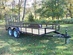 "MV614E2-PT - 6'4"" x 14' Economy Utility Trailer 7,000 GVW with Pipe Top *Temporarily Unavailable!*"