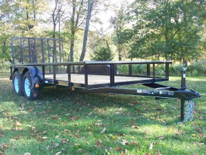 "MV612E2-PT - 6'4"" x 12' Economy Utility Trailer 7,000 GVW with Pipe Top *Temporarily Unavailable!*"