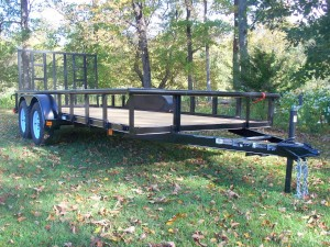 "MV616E-PT - 6'4"" x 16' Economy Utility Trailer 7,000 GVW with Pipe Top *Temporarily Unavailable!*"