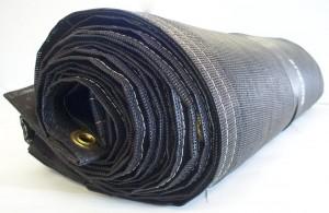 8' x 28' Heavy Duty Black PVC Mesh Tarps
