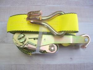 """2"""" x 27' Ratchet Strap Assembly w/ Wire Hooks"""