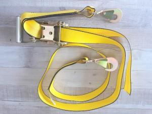 """2"""" x 8' Auto Tie Down  w/ Twisted Snap Hooks"""