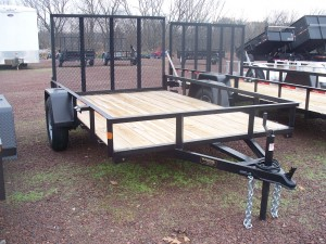 "RTA5.510-3 - 5'6"" x 10' Commercial Utility A Frame Trailer with 2,990 GVW & Wood Floor"