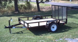 5' x 8' Commercial Utility A Frame Trailer with 2,990 GVW & Wood Floor