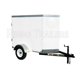 RTE4X6VB 4' x 6' Enclosed Cargo Trailer V-Nose